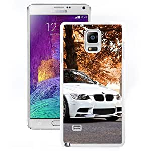 Beautiful Unique Designed Samsung Galaxy Note 4 N910A N910T N910P N910V N910R4 Phone Case With White BMW M3 Autumn Background_White Phone Case