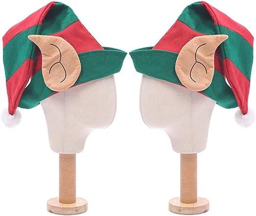 STOBOK 2 Piezas Gorros de Elfo con Orejas Sombreros de Elfo ...
