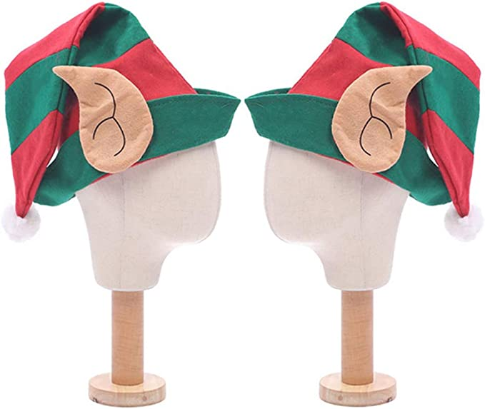 Toyvian 2 Piezas Sombrero de Duende con Orejas Gorro de Elfo ...