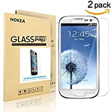 [2 PACK] Samsung Galaxy S3 Mini Screen Protector, NOKEA [9H Hardness] [Crystal Clear] [Easy Bubble-Free Installation] [Scratch Resist] Tempered Glass Screen Protector for Galaxy S3 Mini (for S3 Mini)