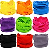 KALILY 9PCS Headband Bandana - Versatile 12-in-1 Sports & Casual Headwear –Multifunctional Seamless Neck Gaiter, Headwrap, Balaclava, Helmet Liner, Face Mask for Camping, Running, Cycling, Fishing etc