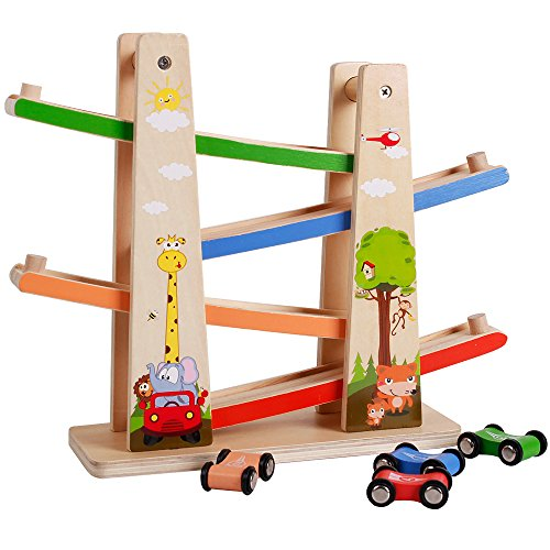 Racetrack Extension Set (Racetrack 4 Lanes Car Racing Tower Toddlers Toys Games for Kids)
