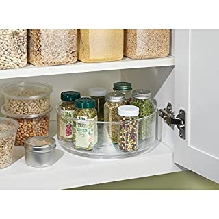 InterDesign Lazy Susan - spices in cabinet