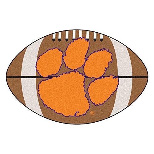 (FANMATS NCAA Clemson University Tigers Nylon Face Football Rug)