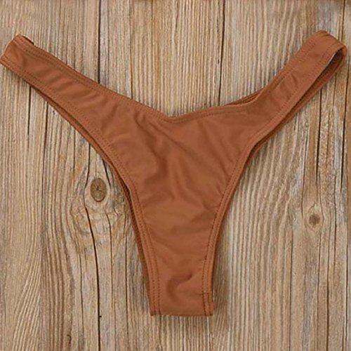BZline Las mujeres traje de baño traje de baño traje de baño bikini tejido venda bañador Marrón
