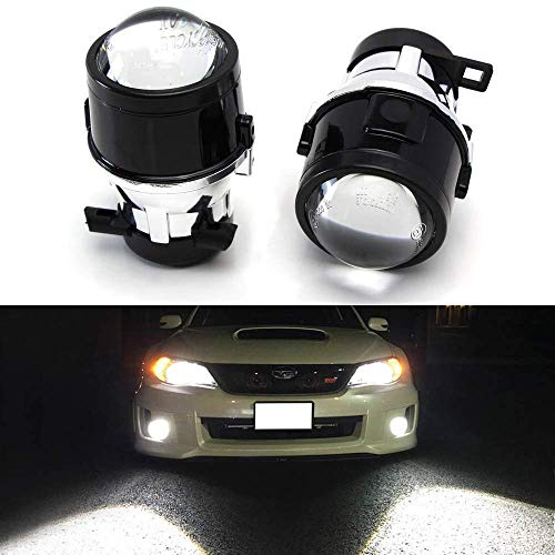 - iJDMTOY (2) OEM Replace Projector Fog Light Housings For 08-14 Subaru Impreza WRX/STi & 09-13 Subaru Forester, HID or LED Ready (Bulbs Not Included)