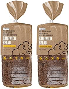 Paleo Bread, 100% Gluten Free, Grain Free and Perfect For Sandwiches, 18 Slices Per Loaf, 5g Protein Per Slice, Crafted by Base Culture (2 Count)