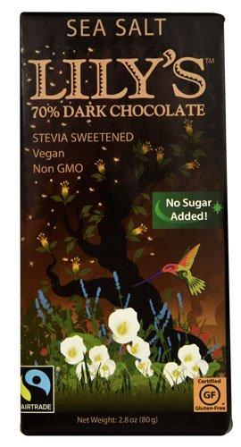 Lilys Sweets Chocolate Bar Dark 70% Sea Salt, 2.8 oz