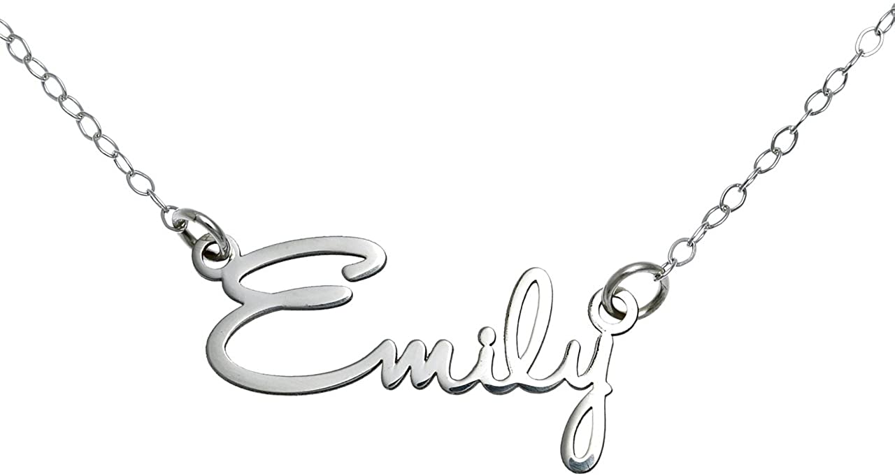 Personalized Name Necklace in Sterling Silver 925 USA Seller