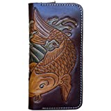 OLG.YAT Vegetable tanned leather Retro Genuine Leather Men's Wallets 20JLTC