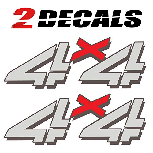 (Tires FX 1999-2006 Chevy Silverado 4x4 (Set of 2 Decals) Bed Side 1500 2500 HD)
