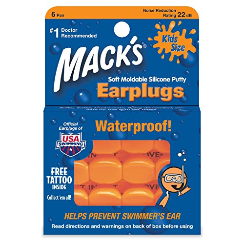 Mack's Kids Size Soft Moldable Silicone Ear Plugs 6 pr(pack of 2)