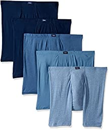 Hanes Men\'s  5-Pack Ultimate FreshIQ Comfort Soft Waistband Boxer with ComfortFlex Waistband Brief-Assorted Colors, Medium