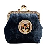 Kigurumi Hand Made Womens Retro Buckle Coin Purse Small Cosmetic Bags