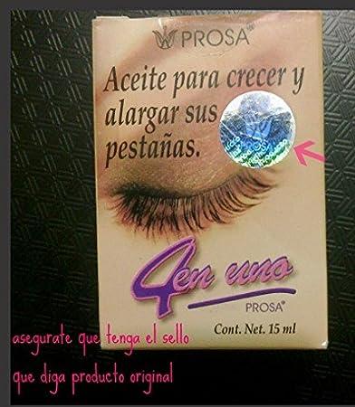 abaac056249 Amazon.com: PROSA 4 en uno aceite para crecer y alargar pestanas-oil ...