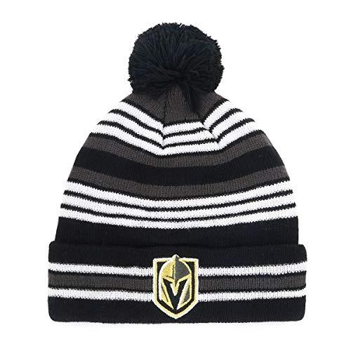 - OTS NHL Vegas Golden Knights Kid's Rickshaw Cuff Knit Cap with Pom, Black, Kid's