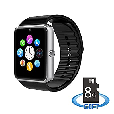 MSRM GT08 Sweatproof Smart Watch Phone for iPhone 5s/6/6s and 4.2 Android or Above SmartPhones Include 8G Micro SD Card
