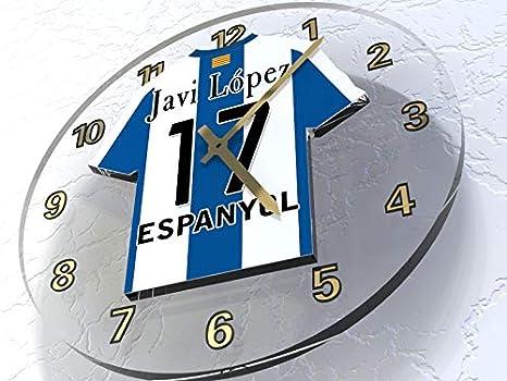 LA ESPAÑOLA LIGA-DESIGN, CAMISETA DE FÚTBOL RELOJ DE PARED, CUALQUIER NOMBRE,