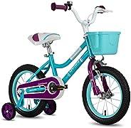 "CYCMOTO Princess Girls Bike for 3-6 Years Child, 14"" & 16"" Kids Bicycle with Basket Hand Brake &"