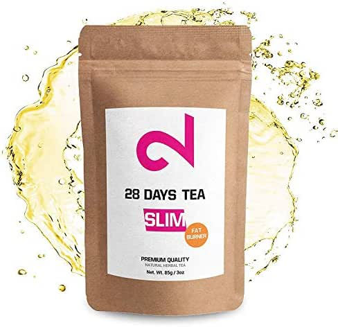 DUAL 28 Days Slim Tea for Weight Loss | Detox Tea | Diet & Fat Loss Tea | Cleanse Tea | Dietary Supplement | Natural Ingredients for More Successful Diet | Made in USA | 3oz Loose Leaf (F-Burner Tea)