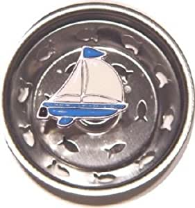 Enamel Kitchen Strainer Sailboat