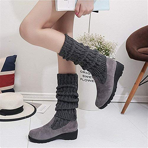 Mujer Elásticas Altas Sed Eu Gruesa Botas De Para Con Zapatos Suela 35 qpRqtwCa