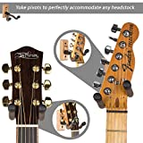 String Swing Guitar Hanger ? Holder for Electric Acoustic and Bass Guitars ? Stand Accessories Home or Studio Wall - Musical Instruments Safe without Hard Cases ? Oak Hardwood CC01K-O 2-Pack