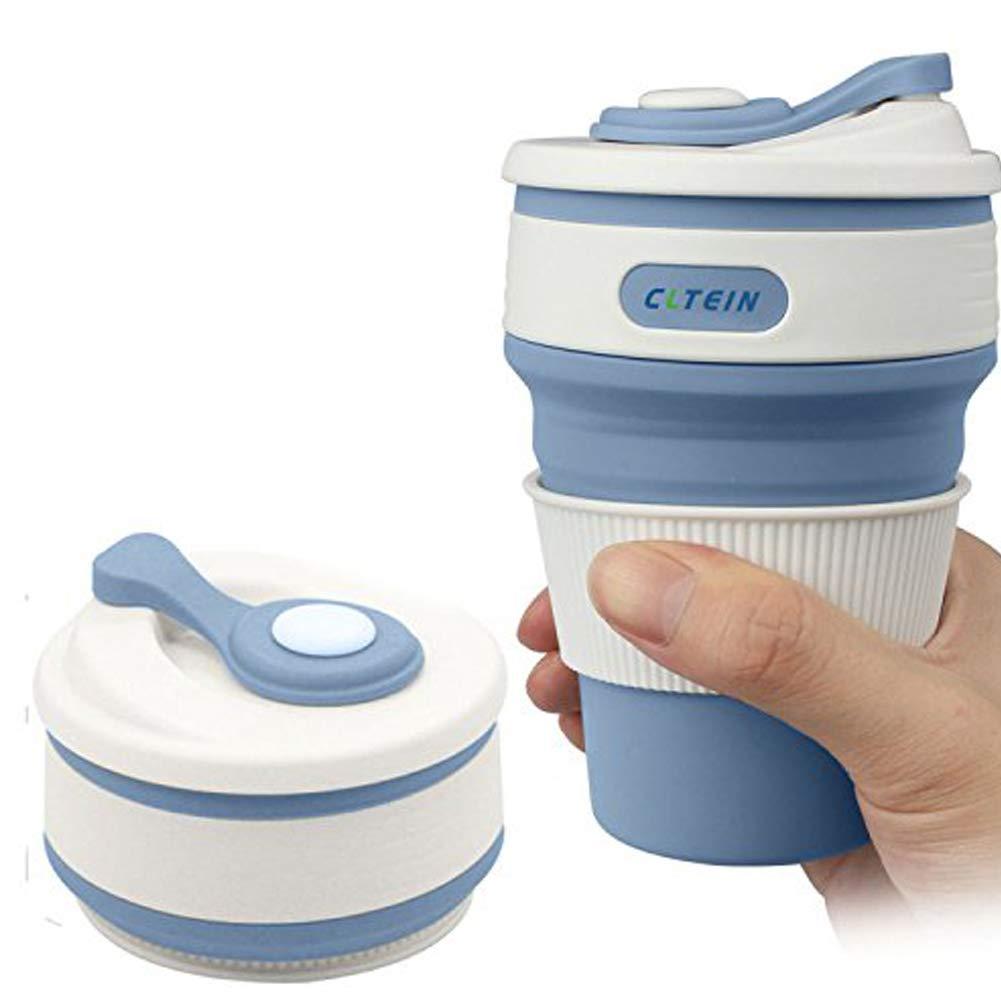Deanyi Silicona Plegable de Taza de caf/é m/ás Vendido Plegable telesc/ópica Taza Viaje Calor Botella Aislamiento 350/ML Productos casa//Cocina