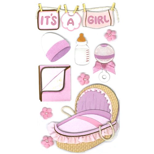 Jolee's Boutique Baby Girl Dimensional Stickers