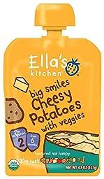 Ella\'s Kitchen 2 Meals - Cheesy Potato with Veggies - 4.5 oz - 6 Pack