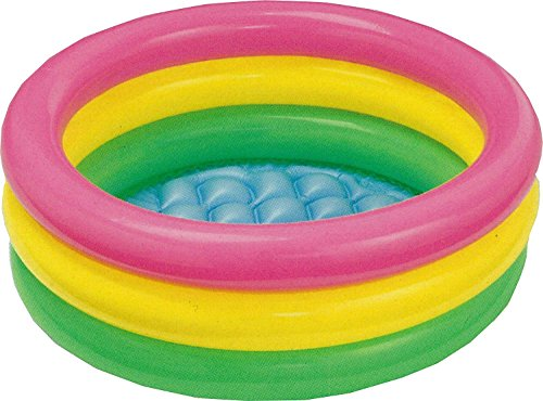 (Easyinsmile Glow Baby Pool,Inflatable Tub,Rainbow Bathtub,Water Pool in Summer)