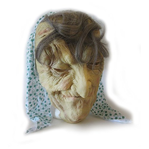 - Sunstar Old Woman Hooded Hag Grandma Witch Adult Halloween Mask