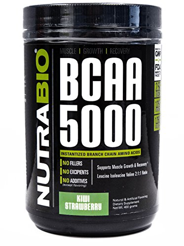Nutrabio BCAA 5000 Kiwi Strawberry 400 Grams