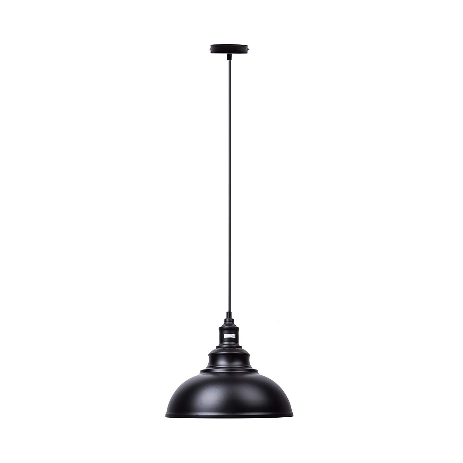 ndustrial Pendant Light Vintage Black Hanging Lights Metal Edison Ceiling Mount Fixture Lighting