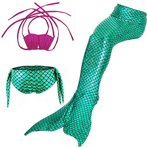 DOTOFIN Mermaid Tails,Swimming Costume,Girls Swimmable Mermaid Tail Swimsuit]()