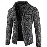 wuyimc Mens' Top Coat, Autumn Winter Casual Long Sleeve Slim Fit Sweater Button Down Jacket Cardigan Coat