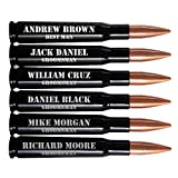 Personalized Groomsmen Gifts - Set of 6, 50 Caliber BMG Bullet Bottle Opener, Real Once-Fired by the US Military