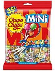 CHUPA CHUPS Mini Lollipops Bag - Mini Version Of Classic Chupa Chups Candy - The Perfect Miniature Treat - Bag Of 35 Pieces