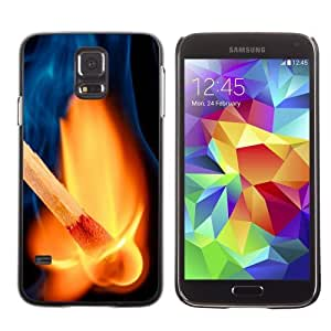 Licase Hard Protective Case Skin Cover for Samsung Galaxy S5 - Awesome Match On Fire