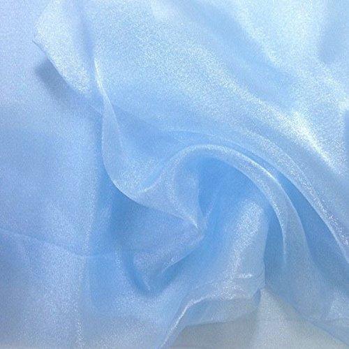 MDSパック10ヤードブライダルのソリッド薄手のオーガンジー生地ウェディングドレス用ボルト、ファッション Blue、工芸品、装飾シルク光沢オーガンジー44_organza