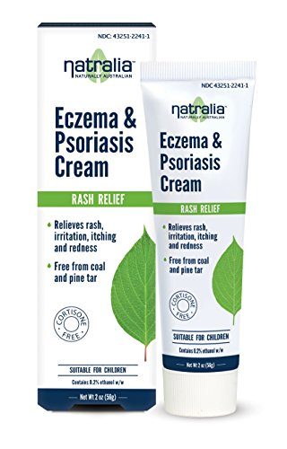 Natralia Eczema & Psoriasis Cream, 2 Ounce Tube - Flare Control Cream Relieves Rash, Irritation, Itching & Redness Associated with Eczema, Psoriasis & Dermatitis