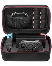 Keten Le kit d'accessoires 13 in 1 Nintendo Switch Comprend Nintendo Switch Carrying Case/Nintendo Switch Housse/Protecteur d'écran Réglable/HD (2 Paquets)