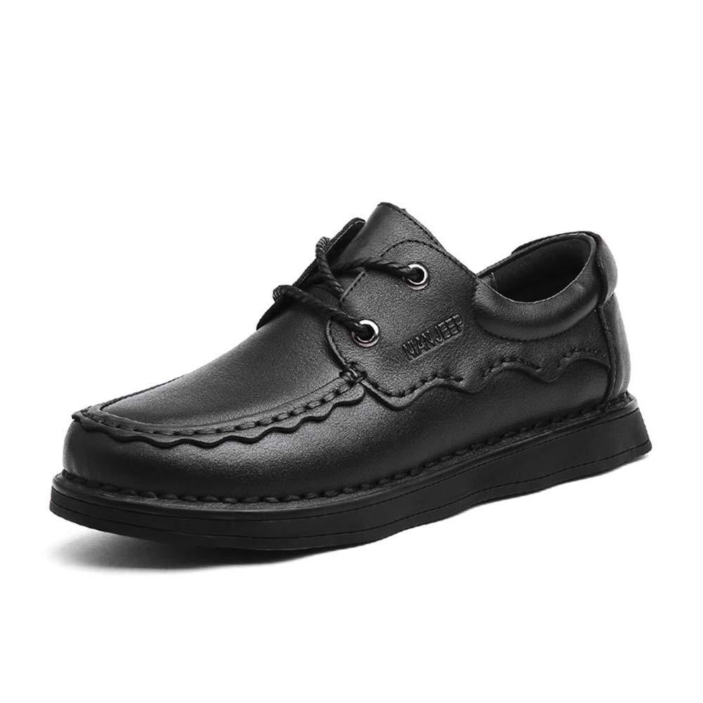 noir 7UK CYL Chaussures en Cuir pour Hommes, Chaussures Anti-dérapantes pour Hommes, Chaussures de Grande Taille, Chaussures élégantes, Douces et Confortables