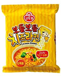Ottogi Korean Instant Noodles (Cheese Flavor) X 4packs by Ottogi