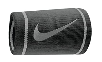 finest selection 34076 d079d Nike Dri-fit Doublewide Wristbands (1 Pair, One Size Fits Most, Black