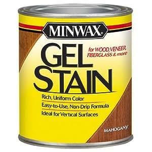 Minwax 26050 1/2 Pint Gel Stain Interior Wood, Mahogany