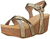 Very Volatile Women's Nocturnal Wedge Sandal, Gold, 8 B US