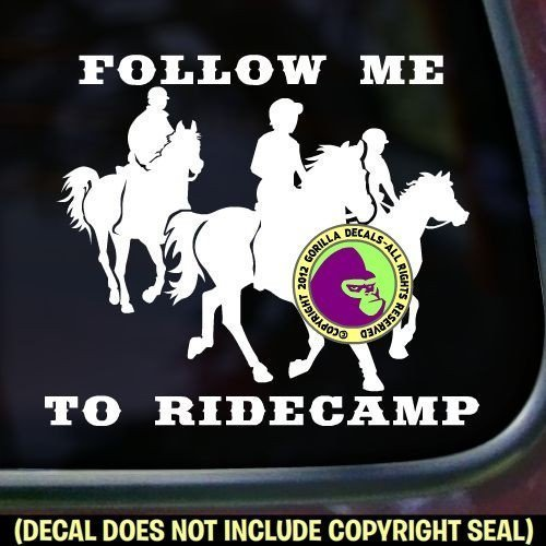 Endurance FOLLOW ME TO RIDECAMP Vinyl Decal Sticker B
