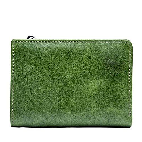 Green de Luxe de avec véritable Madame en la Green Cadeau de capacité boîte Grande rabbit Cuir Portefeuille Color Lovely wnqFX1T4