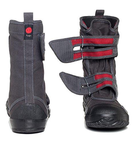 FUGU SA-ME Japanese Mid-Calf Eco-Friendly Vegan Boots, USM8-8.5/JP 26, Gray by FUGU (Image #5)